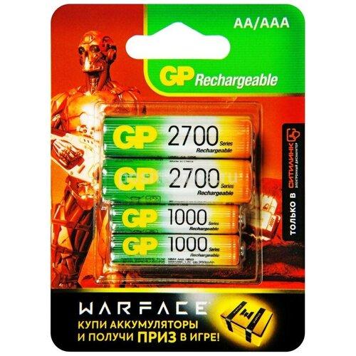 Фото - Аккумулятор GP Rechargeable 270AA+100AAAHC AA/AAA NiMH 2700 mAh аккумулятор aa fujitsu hr 3utceu 4b 1900 mah 4 штуки