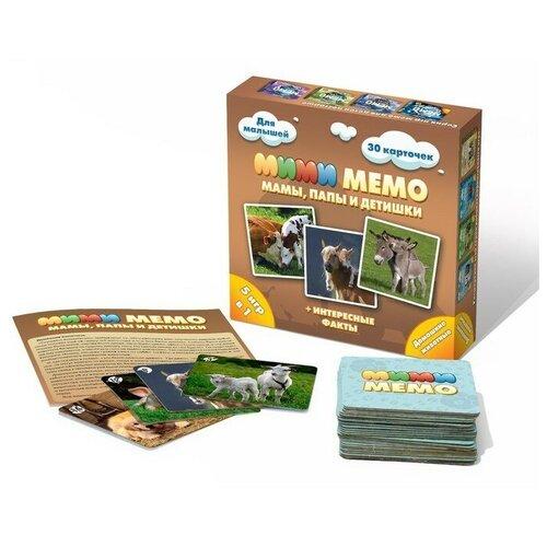 Нескучные игры Настольная игра «Ми-Ми-Мемо. Домашние животные» недорого