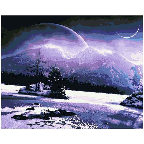 HS0294 Набор для рисования по номерам 'Зимняя ночь' 40*50см