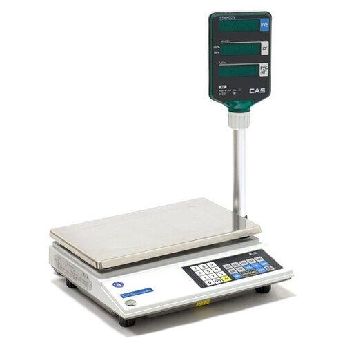 Весы торговые CAS AP-15M, белый весы торговые электронные cas er jr 30cb