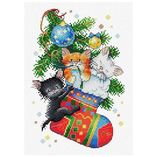 М-563 Набор для вышивания МП Студия 'Новогодний подарок'23*16см кн 463 набор для вышивания мп студия похрустим 30 21 17 16см