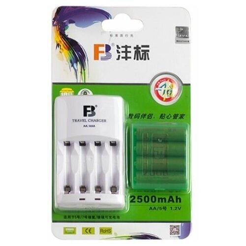 Фото - Зарядное устройство FB FB-18 AA/AAA + 4шт. AA 2500mAh парик из искусственных волос aa bb