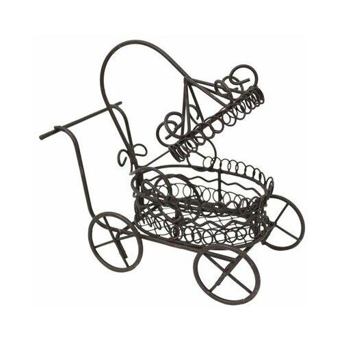 KB2301 Металлическая коляска, корич. 11*6,5*10,5см Астра