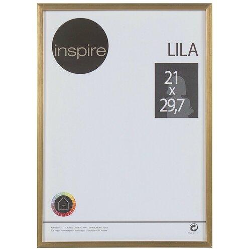 рамка inspire lila 21х29 7 см цвет белый Рамка Inspire «Lila», 21х29,7 см, цвет золото