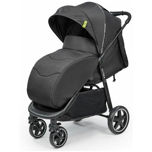 Фото - Коляска прогулочная Happy Baby Ultima V2 X4, 4 колеса, съемный бампер, black прогулочная коляска happy baby umma pro coral