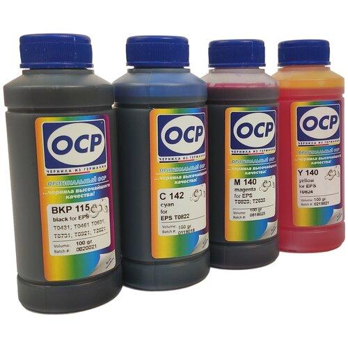 Чернила (краска) OCP для принтеров Epson Expression Home XP-103, XP-203, XP-207, XP-303, XP-306, XP-313, XP-323, XP-406, XP-413, XP-423 100x4
