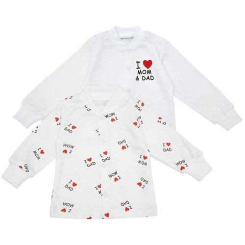 Комплект рубашечек (кофт) детских Amarobaby Love, белый, 2 шт., 56