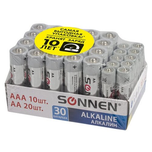 Батарейка AA+AAA - Sonnen Alkaline LR6+LR03 (20+10 штук) 455097