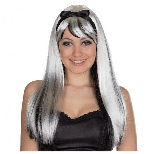 Купить Черно-белый парик с повязкой (12089), RUBIE'S