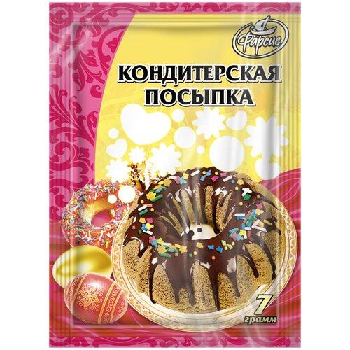 Посыпка кондитерская Фарсис бисер 7гр. (10шт.)