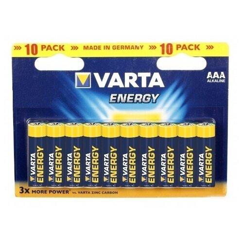 Фото - Батарейка VARTA ENERGY AAA/LR03 бл 10 батарейка varta energy d lr20 бл 2