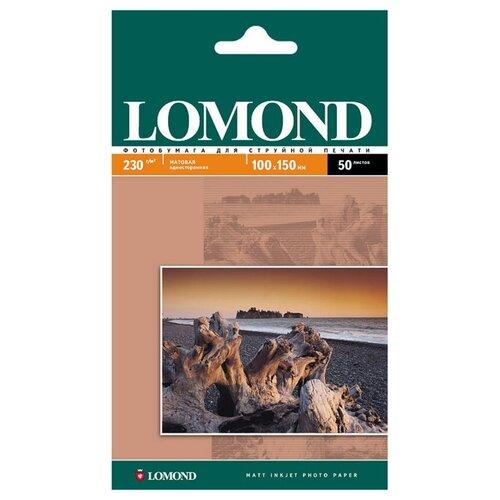 Фото - Фотобумага Lomond 100x150mm 230g/m2 матовая одностороняя 102034 фотобумага lomond a3 230g m2 глянцевая односторонняя 50 лист