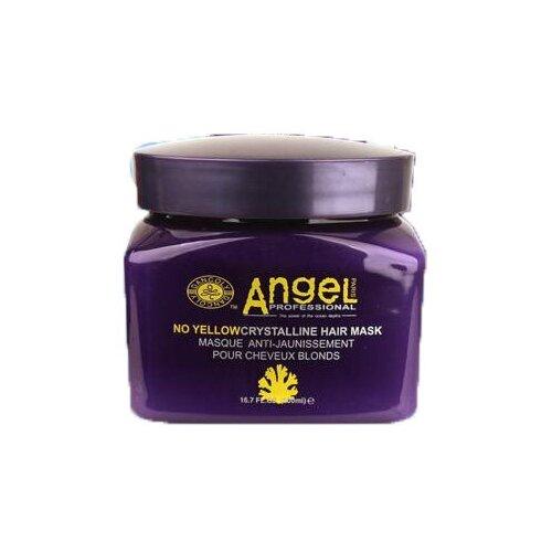 Купить Angel Professional Маска для нейтрализации желтизны для светлых волос No Yellow Crystalline, 500 мл