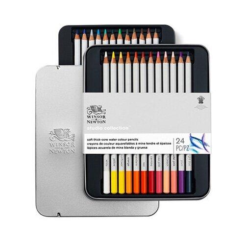 Купить Winsor&Newton Набор акварельных карандашей 12 цветов 24 цв490015 1 шт., Winsor & Newton, Цветные карандаши