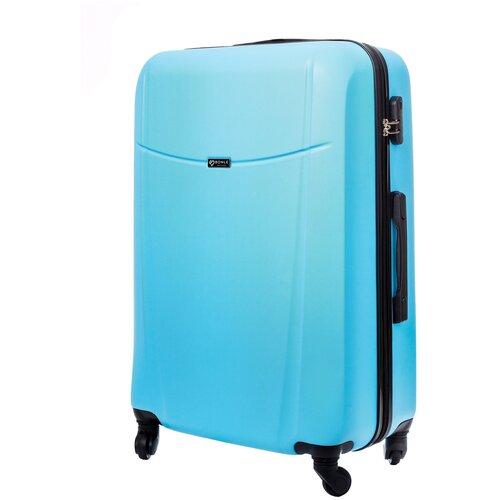 чемодан bonle премиум abs пластик салатовый размер s 55 см 37 л Чемодан Bonle, премиум ABS-пластик, Небесный, размер L, 75,5 см, 91 л