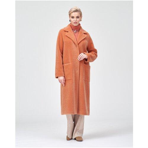 Пальто из эко-меха / Шуба чебурашка / Шуба из искусственного меха Silverfox S956-0-0-6r021/абрикос/размер 46