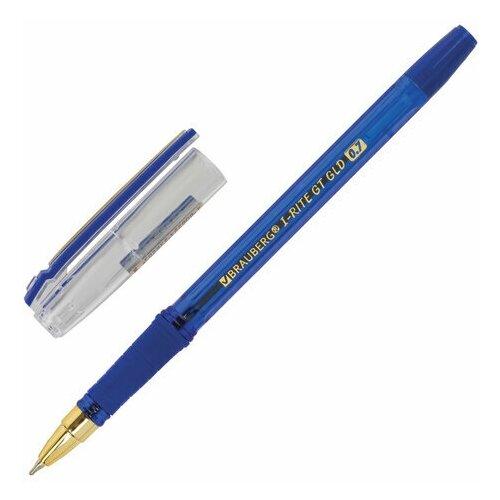 Ручка шариковая Brauberg i-Rite GT GLD (0.35мм, синий цвет чернил, масляная основа, грип) 24 уп. (143302)