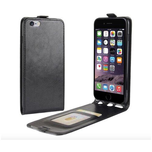Чехол-флип MyPads для iPhone 6/ 6S 4.7 (Айфон 6 / 6С) вертикальный откидной черный