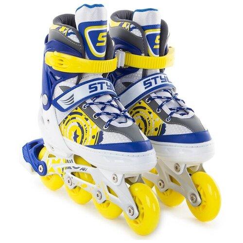 Коньки START UP Style р.M 35-38 Blue-Yellow мяч start up e5126 5 yellow violet