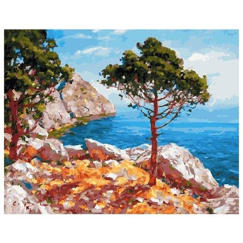 Картина по номерам Paintboy «Сосны на берегу» (холст на подрамнике, 40х50 см) картина по номерам paintboy маленькая деревушка холст на подрамнике 40х50 см