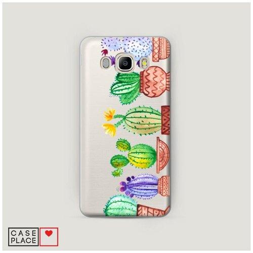 Чехол Пластиковый Samsung Galaxy J5 2016 Кактусы рисунок