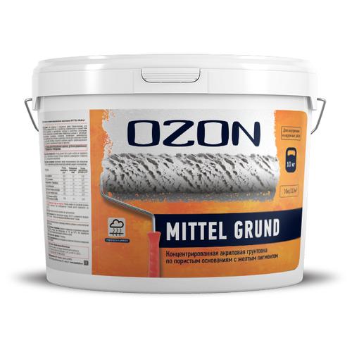 Грунтовки проникающие OZON Грунтовка для газобетона и впитывающих оснований OZON Mittelgrund ВД-АК-017-10 10л обычная
