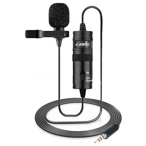 Микрофон CANDC DC-C1 Pro, петличный, Jack 3.5mm, 6 м, черный, электронный конденсатор
