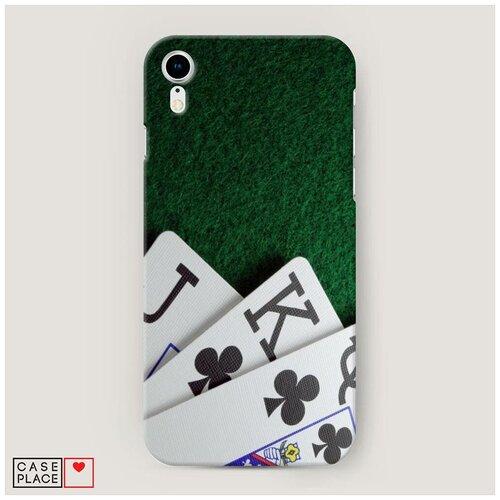 Чехол Пластиковый iPhone XR (10R) Валет король дама