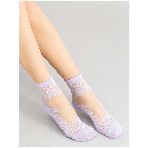 Носки Giulia WS2 CRYSTAL 005 размер 36-38, lilac (Фиолетовый)
