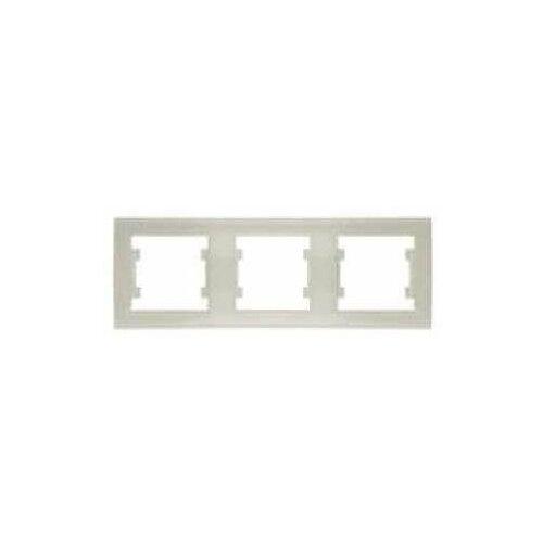 Рамки скрытой установки Universal Рамка 3-м Бриллиант горизонт. сл. кость UNIVersal 7948707