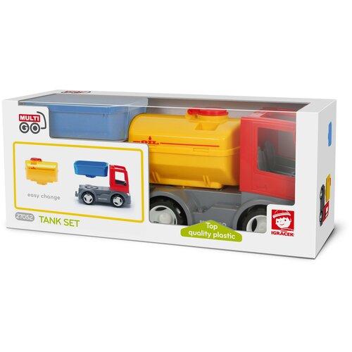 Грузовик с цистерной и сменным кузовом, экологичная упаковка, пластмасса