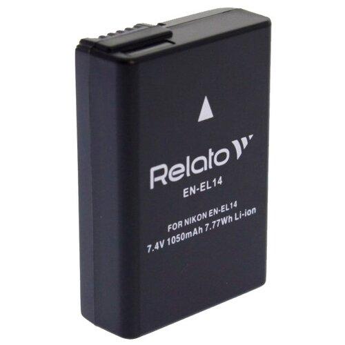 Фото - Аккумулятор Relato EN-EL14 для Nikon D3100/D3200/D5100/D5200/D5500 / CoolPix P7000/P7100/P7700/P7800 сумка nikon crumpler slr для d3200 d3300 d3400 d5100 d5200 d5300 d5500 d5600