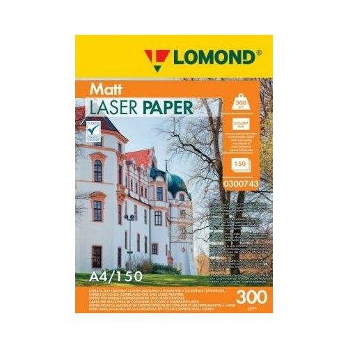 Фото - LOMOND Фотобумага LOMOND Двухсторонняя Матовая, для лазерной печати, 300 г/м2, A4/150л. lomond 2020345