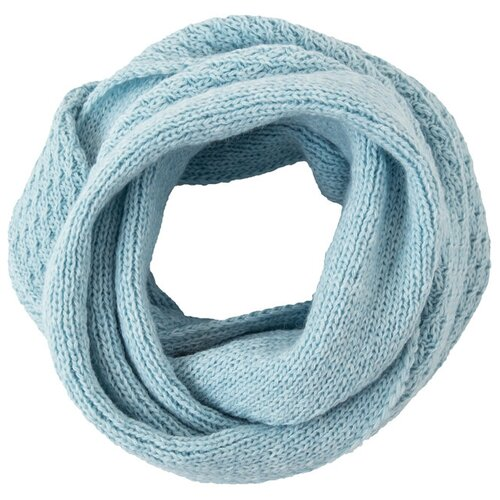 Шарф женский Finn Flare, цвет: светло-голубой A20-11141_106, размер: Единый шарф женский finn flare цвет молочный a20 11147 711 размер единый