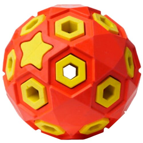 Игрушка для собак Homepet Silver Series Звездное небо мяч каучук красно-желтый 8 см (1 шт)