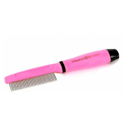Фото - MasterGroom Расчёска MasterGroom с гелевой ручкой, частые зубцы расчёска карбоновая с ручкой