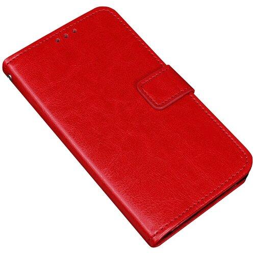 Чехол-книжка MyPads для Samsung Galaxy S7 G930 / G9300 5.1 с мульти-подставкой застёжкой и визитницей красный