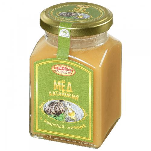 Мед Медовый край алтайский с кедровой живицей 330 г
