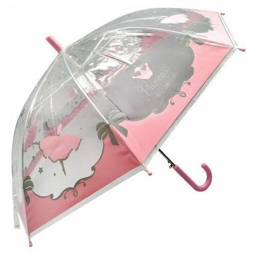 Зонт детский Mary Poppins Принцесса, 48 см, полуавтомат, прозрачный