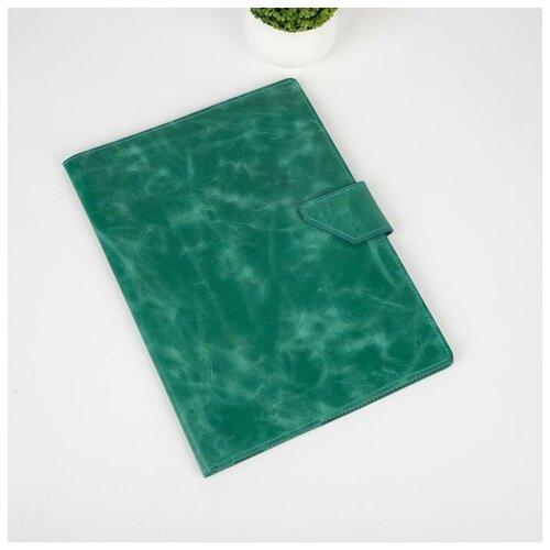 Папка д/документов, 3 компл, д/карт, на кнопке, пулл-ап, зеленый 5799544