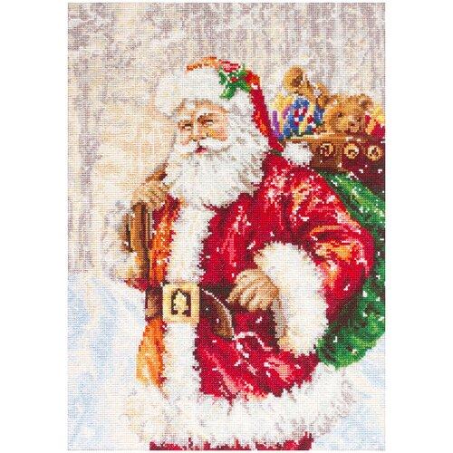 Фото - Luca-S Набор для вышивания Дед Мороз 15 x 21 см (G575) bu4022 набор для вышивания хижина в лесу 43 5 40см luca s