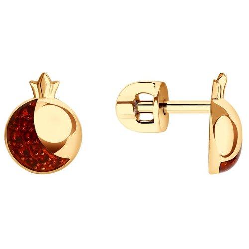 Diamant Серьги из золота с фианитами и эмалью 51-122-01301-1