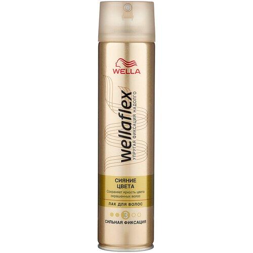 Wella Лак для волос Wellaflex Сияние цвета, сильная фиксация, 250 мл недорого