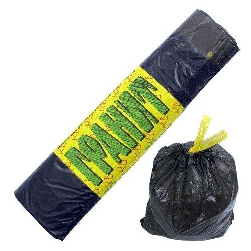 Фото - Мешки для мусора, 30 л, завязки, черные, в рулоне 20 шт., ПНД, 14 мкм, 50х60 см, прочные, концепция быта Гранит, 0527, 2 шт. мешки для мусора концепция быта гранит 30 л 20 шт черный