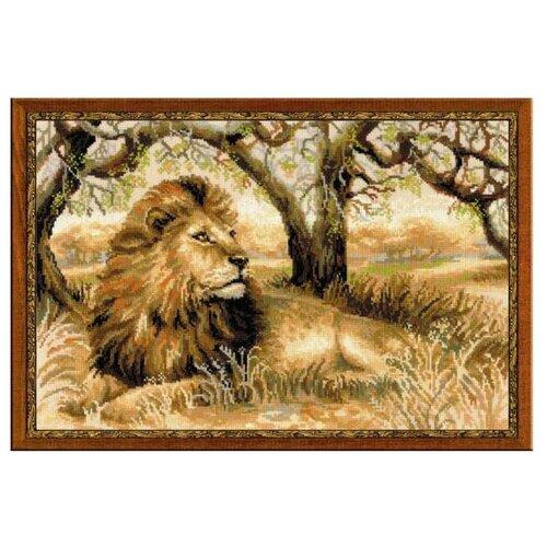 Фото - Риолис Набор для вышивания крестом Царь зверей 60 x 40 (1261) риолис набор для вышивания крестом русская охота 60 x 40 1639