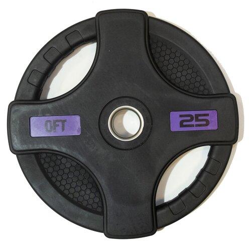 Диск Original FitTools FT-2HGP 25 кг черный перчатки original fittools ft glv01 черный белый m