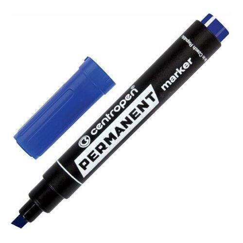 Купить Маркер перманентный CENTROPEN 8576, синий, скошенный наконечник, 1-4, 6 мм, 5 8576 0106, 5 шт., Маркеры