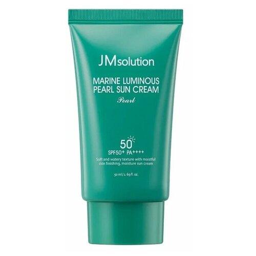 Солнцезащитный крем для лица с жемчугом JMsolution Marine Luminous Pearl Sun Cream SPF50+ PA+++, 50 мл jmsolution крем water luminous hand cream good morning для рук утренний 50 мл