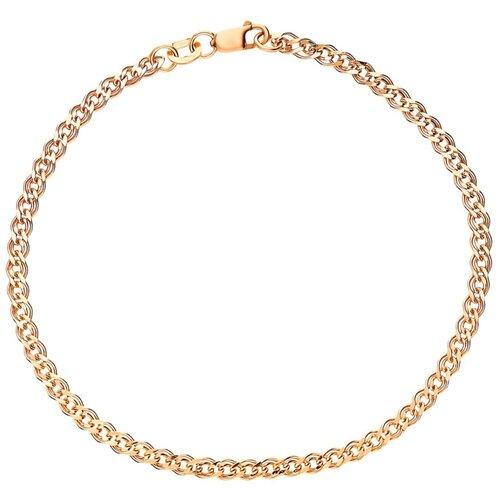 КРАСЦВЕТМЕТ Браслет золотой плетения Нонна НБ12-200ПГ, 20 см, 3.86 г