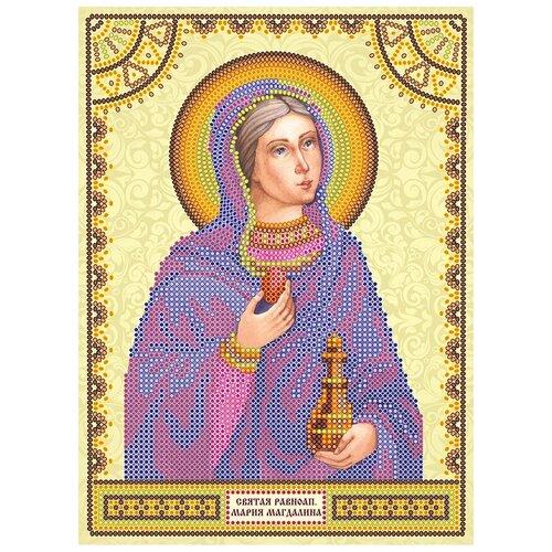 Схема для вышивки иконы бисером на холсте АБРИС АРТ АСK-014 Святая Мария 17х23см